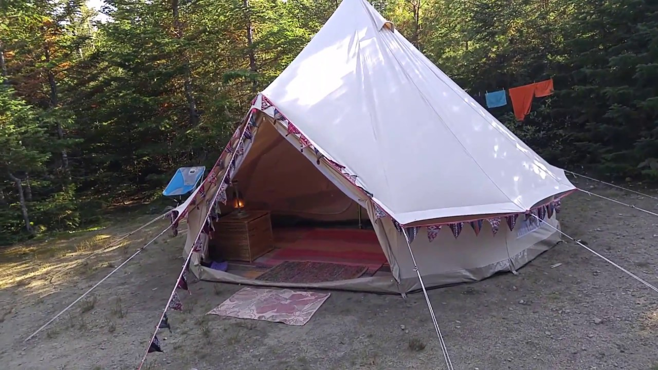 pretty nice dc38e 8c584 Glamping in our Canvascamp Sibley 400 bell tent