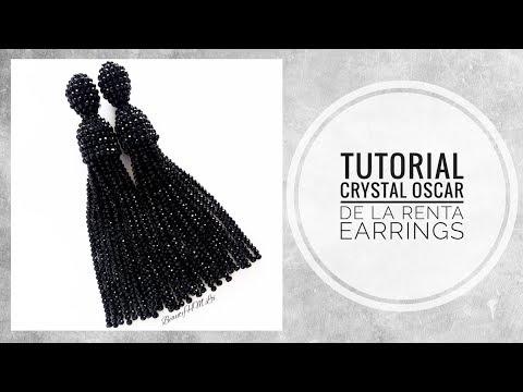"#МК - Серьги ""Оскар де ла Рента"" из хрусталя | #Tutorial - Earrings ""Oscar de La Renta"" crystal"