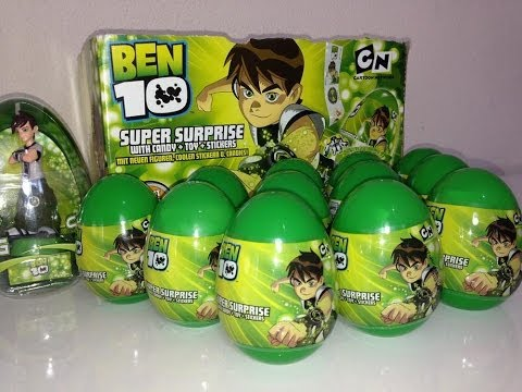 10 Surprise Eggs Ben 10 Unwrapping Plastic Eggs Hd Doovi