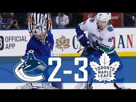 Canucks vs Maple Leafs | Highlights | Jan. 6, 2018 [HD]