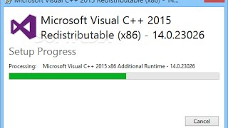 How to Download and Install Visual C++ Redistributable Packages for Visual Studio 2015