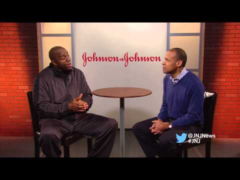 NBA Legend Magic Johnson encourages children to be active