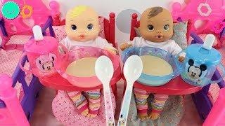 Los bebés Mickey y Minnie en su rutina de todo el día en BB Juguetes