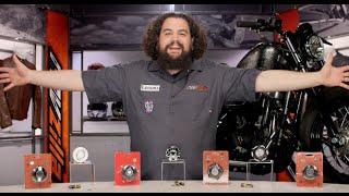 Chrome Roland Sands Design Gas Caps Vintage Compatible for Harley-Davidson Dyna Wide Glide 1996-2008