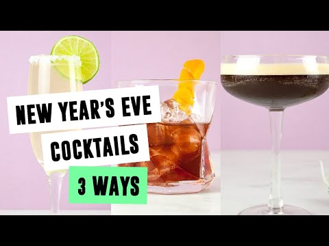 New Year's Eve Cocktails 3 Ways | SO VEGAN