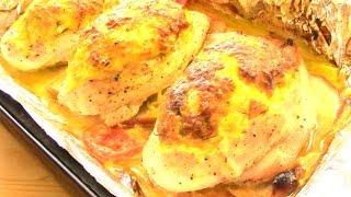 СОЧНАЯ КУРИНАЯ ГРУДКА запеченная в ДУХОВКЕ. Рецепт фаршированного куриного филе.