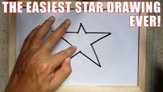 كيفية رسم نجمة خطوة خطوة أسهل طريقة للمبتدئين