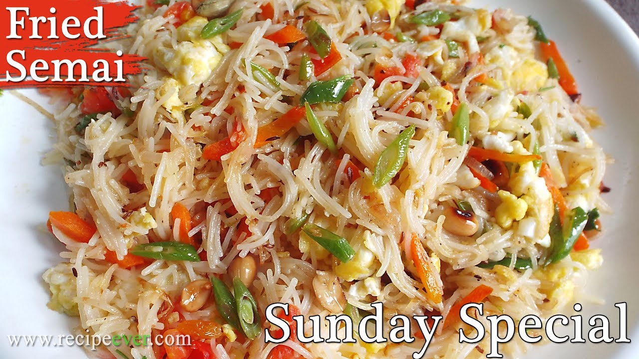 Fried semai vermicelli bengali recipe fried semai vermicelli bengali recipe bangla cooking recipe sunday special forumfinder Image collections