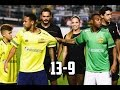 Amigos de Neymar 13 x 9 Amigos de Robinho - GOLS - Amistoso 2016 22/12/16