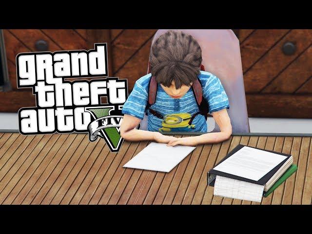 GTA 5 CHILD MOD #10 - L'ESAME DI 5ª ELEMENTARE!