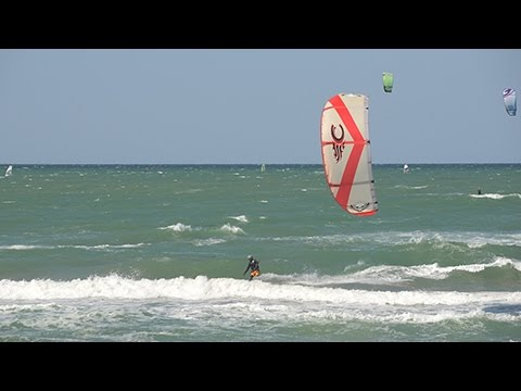 kiting in south italy - gargano - in may 2015