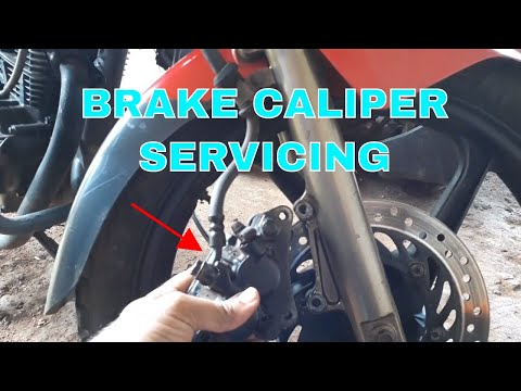 HOW TO DO SERVICING OF DISC BRAKE CALIPER OF MOTORCYCLE.