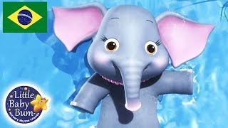 Canções para Bebe | 5 Elefantes Tomando Banho | Desenho para Bebe | Little Baby Bum em Português