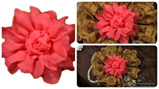 Diy Fabric Flower, Rose, Tutorial, Diy Presents