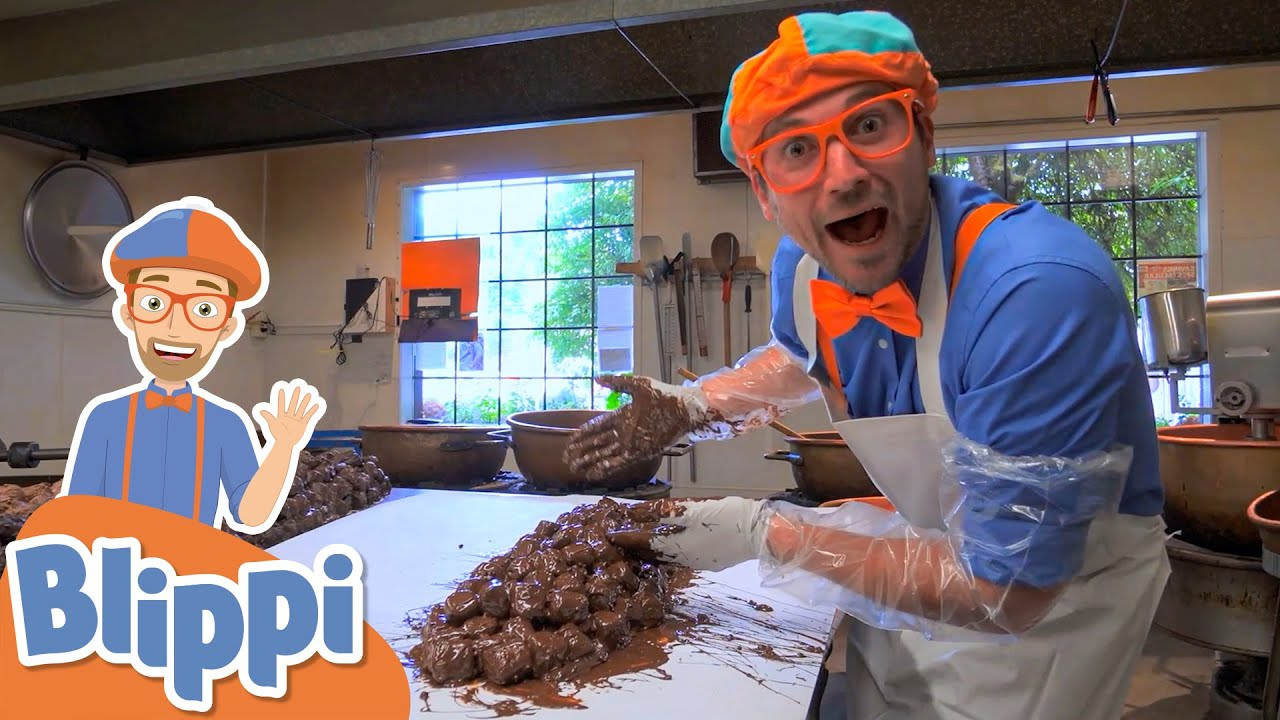 Blippi Visits a Chocolate Factory!   Fun & Educational Videos For Kids