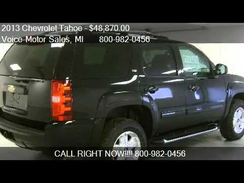 2013 chevrolet tahoe lt z 71 4x4 for sale in kalkaska for Voice motors kalkaska michigan