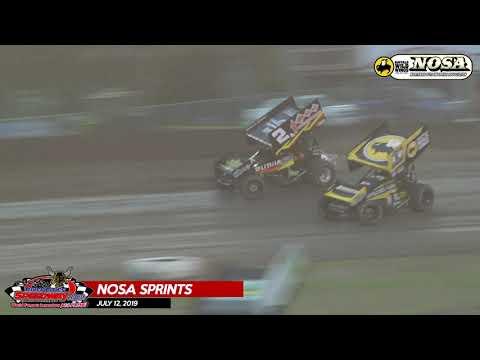 NOSA Sprint Car Highlights - River Cities Speedway - 7/12/19