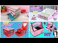 4 Cardboard organizers ideas for teenagers. Room Decor DIY for teenage girls