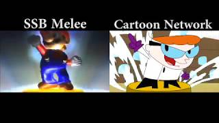 SSB Melee & Cartoon Network Intro Comparison