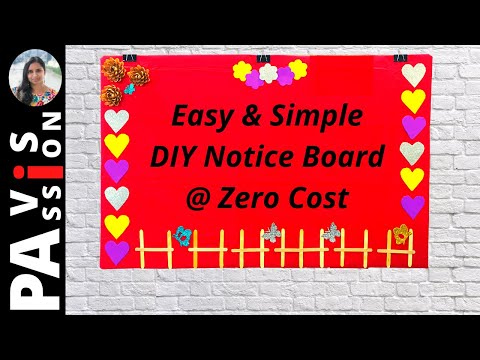 DIY Notice Board for Home   Pin Up board using Cardboard   Best Out of Waste   Kids room decoration