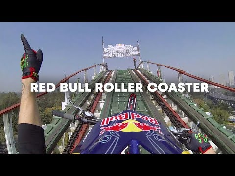 Trials Motorcycle on a Roller Coaster