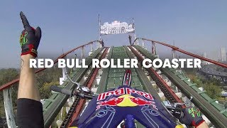 Trials Motorcycle on a Roller Coaster - Red Bull Roller Coaster thumbnail