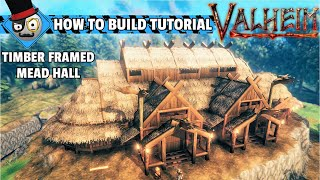 Valheim - How to build a Viking House - Mead Hall (Building Guide)