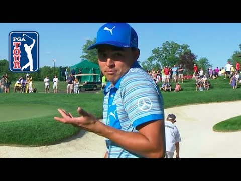 Rickie Fowler's spectacular bunker hole-out at Memorial