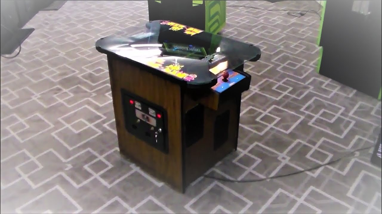 Pacman Table Game >> Classic 1981 Ms Pac Man Cocktail Table Arcade Game Youtube