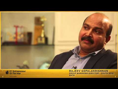 Rajeev Gopalakrishnan, Group Managing Director, South Asia BATA and EOY India 2015 award finalist