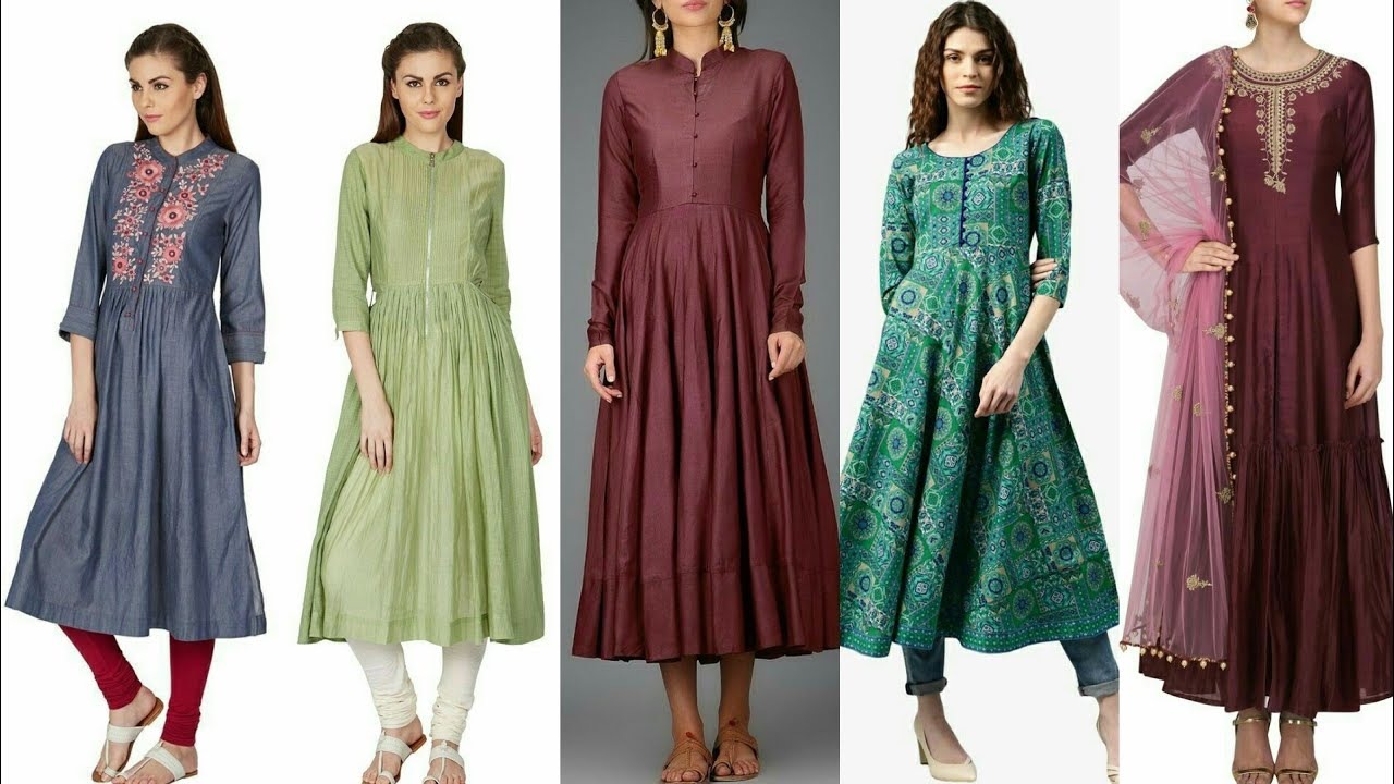 Latest And Trendy Designer Casual Frock Style Kurta/Kurti Dress Design/New Fashion For Stylish Girls
