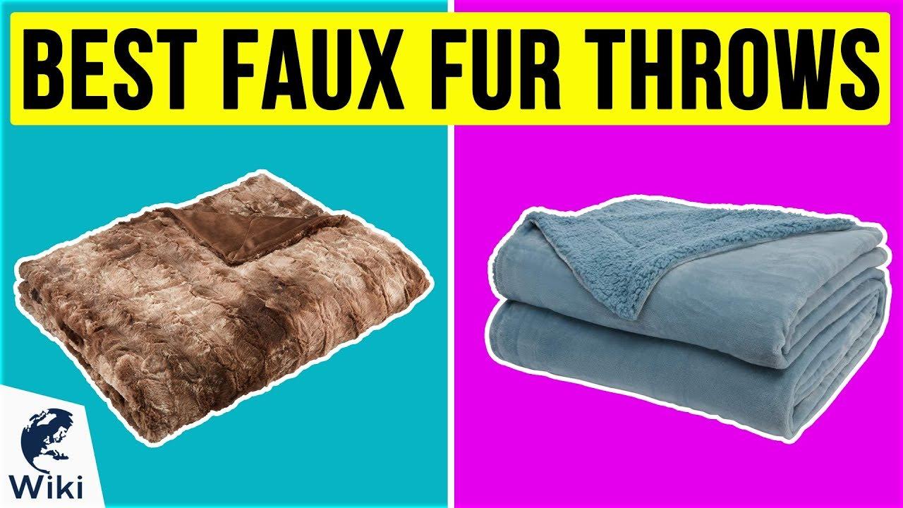 ✨ Beautiful Soft Grey Herringbone Textured Faux Fur Throw ✨
