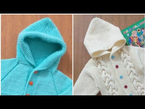 Как связать капюшон для детской кофты спицами