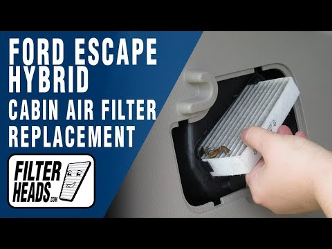 How to Replace Battery Compartment Filter Ford Escape ...
