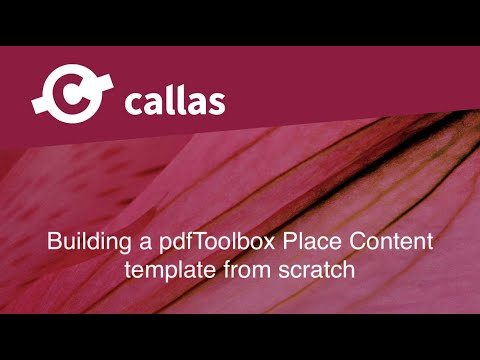 Building a pdfToolbox Place Content template from scratch - English