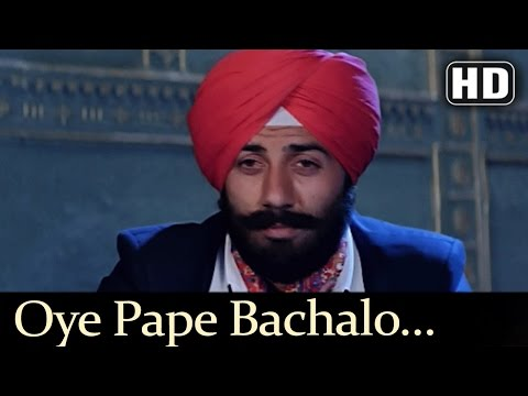 Oye Pape Bachalo - Lootere Song - Chunky Pandey - Sunny Deol - Sukhwinder Singh - Sapna Mukherjee