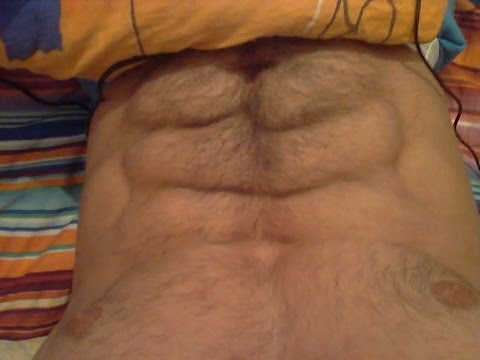 Hairy Muscle ABS flexing