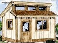 8x8 Clerestory Shed Construction Plans Blueprints For Creating A Potting Shed