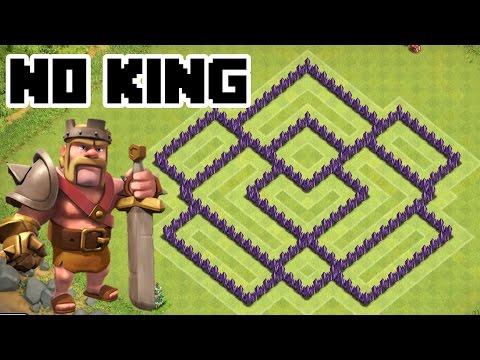 Clash Of Clans TH7 Hybrid Base With Air Sweeper COC Town Hall 7 Defense NO KING