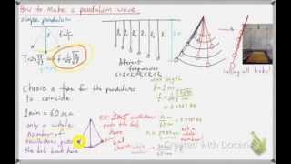 How To Make A Pendulum Wave