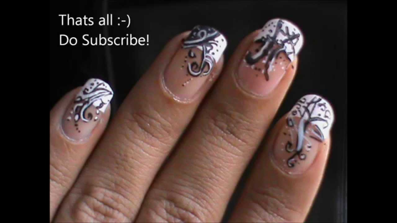 A French Manicure Nail Designs Tutorial! - YouTube