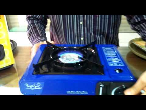 Cocina portatil de gas modelo bs 100 azul youtube for Cocina de gas portatil