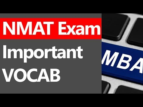 NMAT IMPORTANT VOCAB WORDS [WINDOW 5]