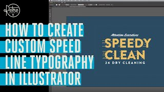 How To Create Custom Speed Line Typography In Illustrator
