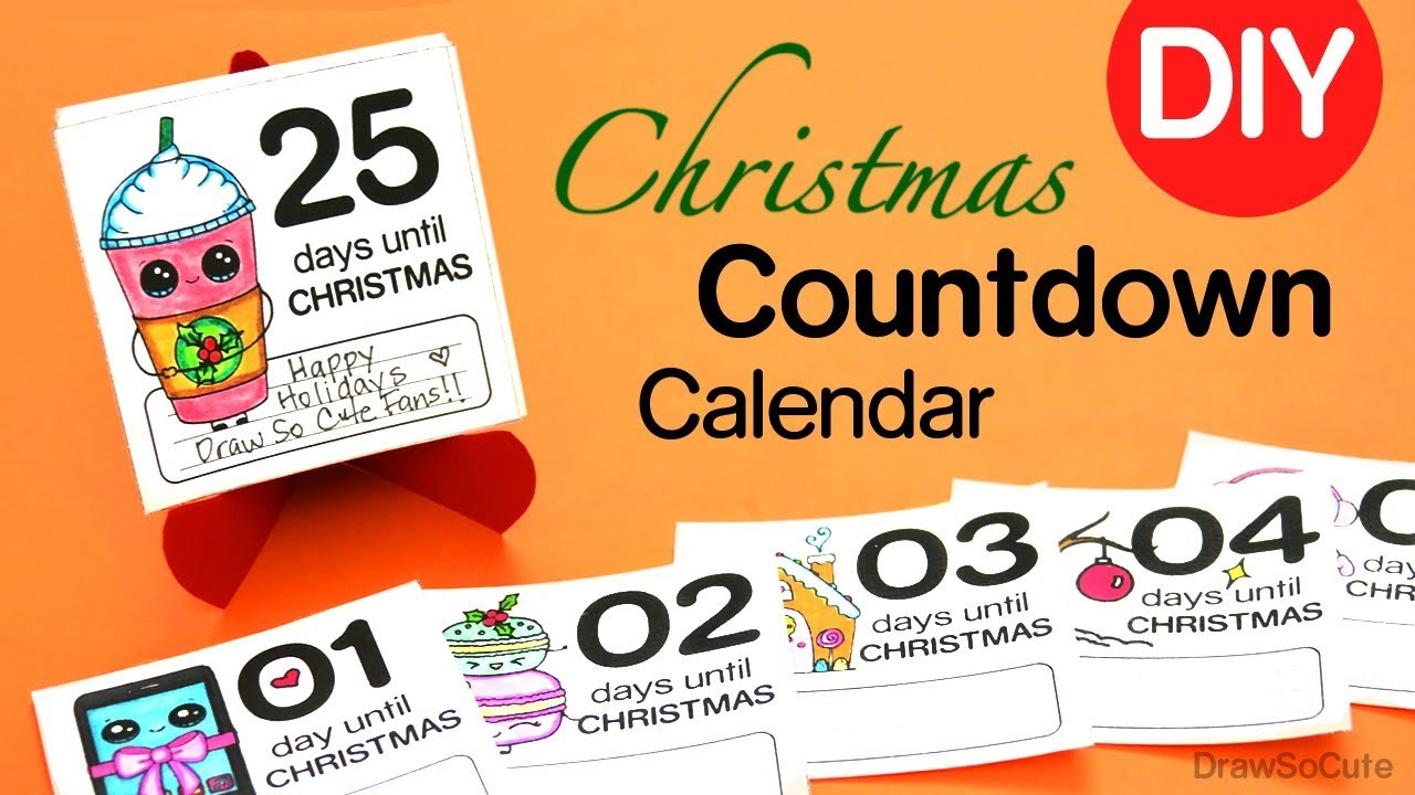 Christmas Countdown Calendar.How To Make A Christmas Countdown Calendar Easy Diy