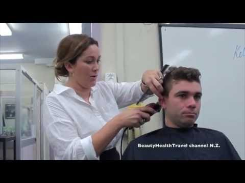 Men's Fohawk Haircut for beginners and home hair business: great class! - 동영상