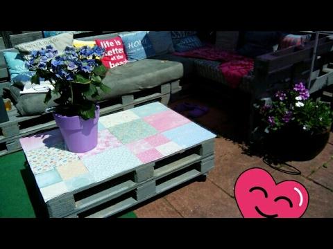 Lounge Meubelen Tuin : Tuinmeubelen zelf maken euro pallets lounge how to make a sofa