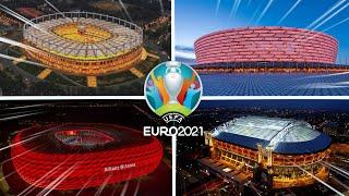 الملاعب 12 المستضيفة لكأس أمم أوروبا 2021 و جميع المجموعات المشاركة في اليورو