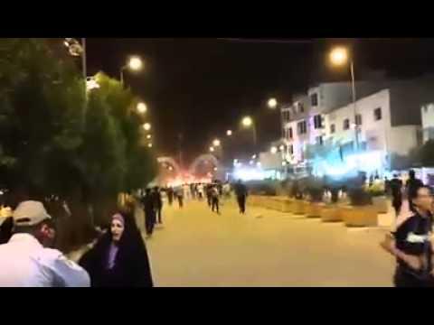 Shia city of kadimya,baghdad hit by rockets from sunni groups yesterday (inside shrine site video)