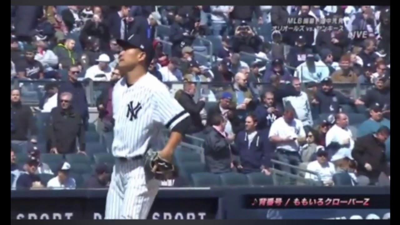 田中将大開幕戦投球練習